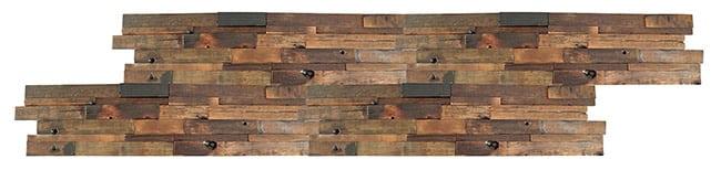 RUS-601 interlock hardwood timber tile - Example of installed Renza wooden tiles.
