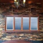 SIlva 601 Interlock Renaza Luxury Wall Tiles in an Alfresco setting as external wall cladding