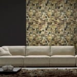 Renaza Feature wall in lounge with designer couch