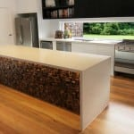 Renaza Reclaimed Timber Tile – Silva 303 Kitchen Island Feature