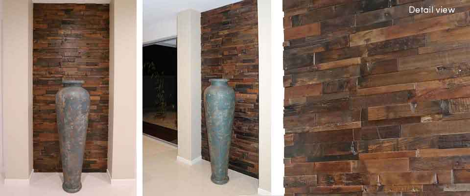 Inset Feature Wall | RUS 601 Interlock | Renaza Reclaimed Timber Tiles